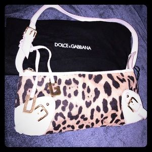 Dolce & Gabbana Mini Leather & Leopard Purse
